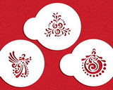 Fancy Holiday Cookie Tops Cupcake Stencil