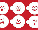 Mini Jack-o-Lantern Faces Cupcake Stencil