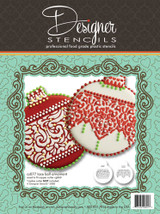 Lace Band Christmas Ball Ornaments Set (no cutter)