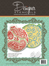 Paisley and Circles Stencil Ornament Set   (no cutter)