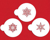 Small Crystal Snowflakes #2 Cake Stencil