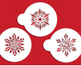 Small Crystal Snowflakes #3 Cake Stencil