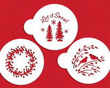 Let it Snow Cookie Stencil