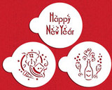 Happy New Year Cookie Stencil