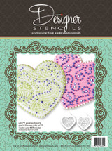 Paisley and Circles Heart Stencil Set (no cutter)