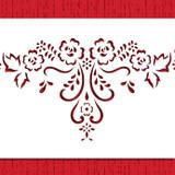 Alencon Floral Lace Swag Cake Stencil