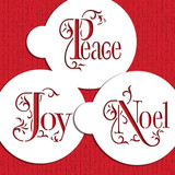 Joy, Noel and Peace Cookie Stencil Set
