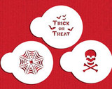 Mini Trick or Treat Cupcake Stencil Set