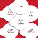 Wedding Lettering Cupcake Stencil Set
