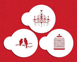 Mini Love Birds/Chandelier Cookie Stencil Set