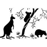 Australian Animal Wall Stencil Border