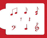 Musical Notes Cookie Stencil Set