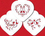 Love Birds Heart Cookie Stencil Set