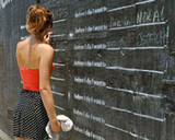 Before I Die Line Stencil - English
