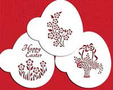 Easter Basket Egg Cookie Stencil Set