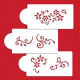 Dainty Floral Sprays Cookie Stencils