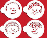 Snowkids Cookie Stencil Set