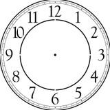 "Contemporary 12-46"" Clockface Wall Stencil (choice of sizes)"