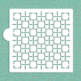 Retro Square Lattice Cookie and Craft Stencil