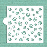 Mini Dog Paws Allover Cookie and Craft Stencil