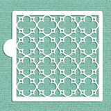 Parisian Lattice Allover Cookie and Craft Stencil