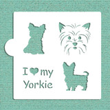 I Love My Yorkie Cookie and Craft Stencil