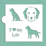 I Love My Lab Cookie and Craft Stencil