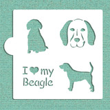 I Love My Beagle Cookie and Craft Stencil