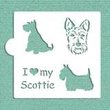 I Love My Scottie Cookie and Craft Stencil