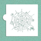 Whimsical Spiderweb Cookie and Craft Stencil