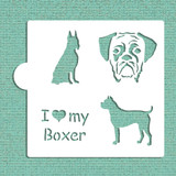 I Love My Boxer Cookie and Craft Stencil
