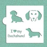 I Love My Dachshund Cookie and Craft Stencil