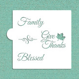 Give Thanks Cookie and Craft Stencil