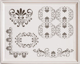 Fleur de Lis Furniture Stencil Set