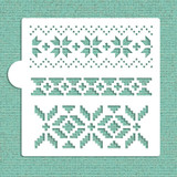 Fair Isle Patterns Cookie and Craft Stencil