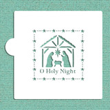O Holy Night Nativity Scene Cookie and Craft Stencil