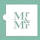 Mr & Mr Cookie and Craft Stencil