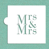 Mrs & Mrs Cookie and Craft Stencil