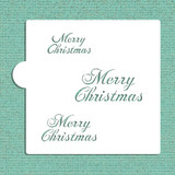 Merry Christmas Cookie and Craft Stencil