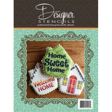 Welcome Home House Tin Cookie Cutter and Stencil Set