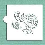 Brushstroke Thistle Flower Cookie and Craft Stencil