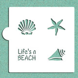 Life's a Beach Cookie and Craft Stencil