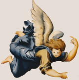 Angel A Wall Stencil by Jeff Raum
