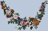 Flower Garland - Large Wall Stencil by Jeff Raum