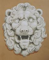 Lion Head Stencil by Jeff Raum