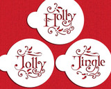 Holly, Jolly and Jingle Cookie Stencil Set