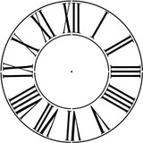 """Large Roman Numeral 12-46"""" Clockface Wall Stencil (choice of sizes)"""