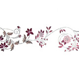 Groveland Floral Scroll Wall Stencil by DeeSigns
