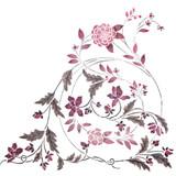 Groveland Corner Floral Scroll Wall Stencil by DeeSigns