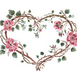 Rose Heart Wall Stencil by DeeSigns